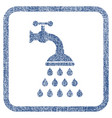 shower tap fabric textured icon vector image vector image