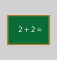 simple school green board vector image