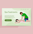 spa treatments healthy lifestyle concept the vector image