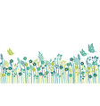 springtime field seamless background vector image vector image