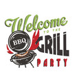 t-shirt print with barbecue maker and bbq sausage vector image vector image