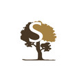 tree letter s vector image vector image
