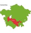 Uzbekistan map vector image