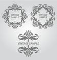 Vintage elements of design vector image vector image