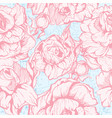 Vintage pink botanical seamless pattern with peony