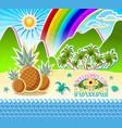 welcome to hawaii seashore scenery sandy beach vector image vector image