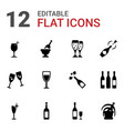 wineglass icons vector image vector image