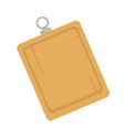 wooden board with hanger vector image vector image