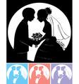 groom with bride vector image