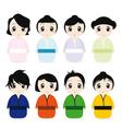 cartoon geisha set vector image