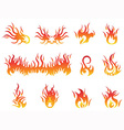 flame symbols vector image