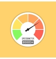speedometer icon isolated on yellow background vector image