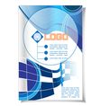 Abstract flyer and banner for print with logo vector image