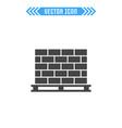 pallet with bricks sign symbol vector image