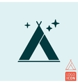Tent icon isolated vector image