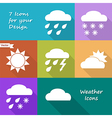 Colored icons design of weather forecast vector image
