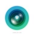 Colorful camera app vector image
