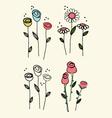 flower scribble drawing vector image