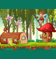 a fairy tale background vector image vector image