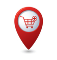 add to basket RED pointer vector image