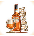 alcohol drink brandy vector image vector image