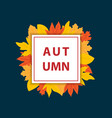 autumn banner with square frame vector image vector image
