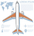 aviation flyer with jet airplane vector image vector image