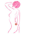 back pain female body vector image vector image