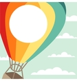 background hot air balloons and clouds vector image vector image