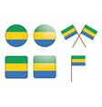 badges with flag of Gabon vector image vector image