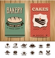 Bakery Visit Cards vector image vector image
