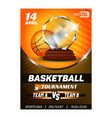 basketball sport competition flyer banner vector image vector image