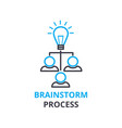 brainstorm process concept outline icon linear vector image