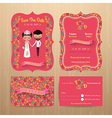 Bride and groom rustic floral wedding invitation vector image vector image