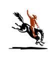 Bucking Bronco Horse vector image vector image