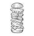 burger jump vector image vector image