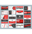 Business card templates Stationery design set Red vector image vector image