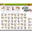 calculating animals cartoon game vector image vector image