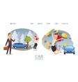 car insurance website happy woman cartoon vector image vector image