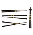 chopsticks set accessories for sushi isolated on vector image