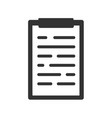 clipboard in flat style isolated on white vector image