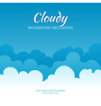 cloudy flat template fluffy clouds stylized vector image vector image