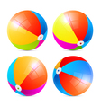 Colorful Beach Balls Set Isolated on White vector image