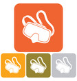 diving mask icon isolated vector image vector image