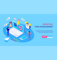 effective time management horizontal banner vector image vector image