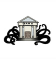 Evil bank vector image vector image