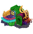 fairy house with ornament in the form of vector image vector image