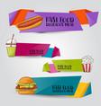fast food vertical banner set concept restaurant vector image