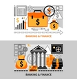 Finance Horizontal Banners vector image