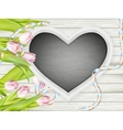 Frame in heart shape EPS 10 vector image vector image